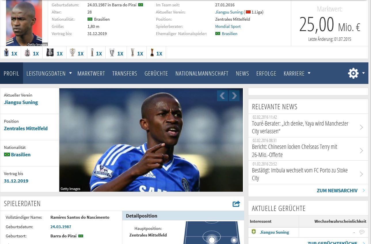 Ramires Screenshot: Transfermarkt.de